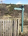 Footpath wicket gate and finger-post - geograph.org.uk - 1200369.jpg