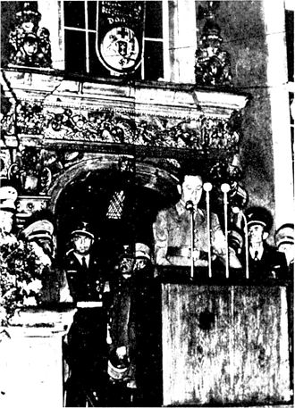 Albert Forster - Albert Forster making a speech in 1939