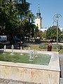 Fountain and Reformed church, 2017 Hajdúnánás.jpg