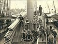 Four-masted bark AUSTRASIA at dock loading lumber, Port Blakely, Washington, ca 1904 (HESTER 282).jpeg