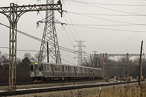 Yellow Line (CTA) - A Yellow Line train of 5000-series cars.
