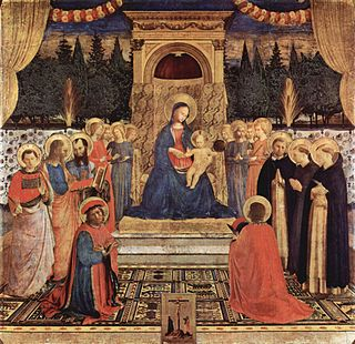 <i>San Marco Altarpiece</i> painting by Fra Angelico