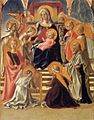 Fra Filippo Lippi - Madonna and Child Enthroned with Saints - WGA13162.jpg
