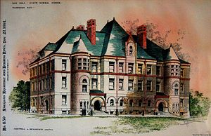 Framingham State University - May Hall, 19th-century architectural rendering