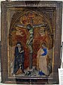 Francesco di vannuccio, pannello di dittico con crocifissione, 1387-88 ca..JPG