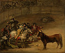 Francisco José de Goya y Lucientes (Francisco de Goya) (Spanish - Bullfight, Suerte de Varas - Google Art Project.jpg