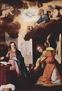 La Anunciación, 1638, (161 x 175 cm.) Museo de Pintura Grenoble