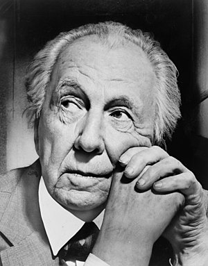 Portrait photograph of Frank Lloyd Wright