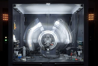 X-ray crystallography - A powder x-ray diffractometer in motion