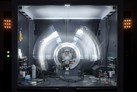 X-ray crystallography tool in action