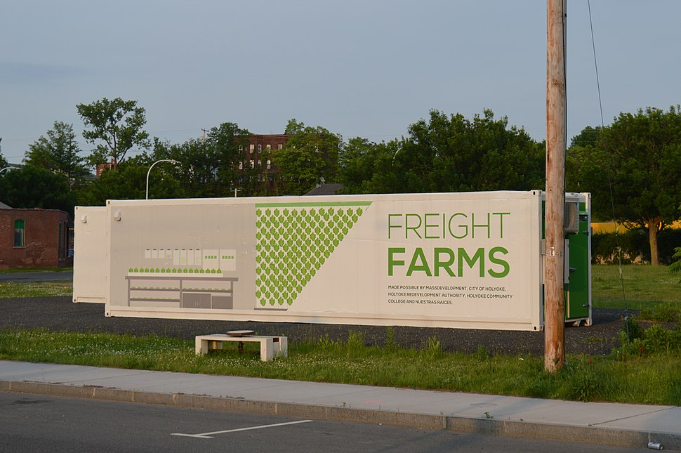 Freight Farms project, Holyoke, Massachusetts