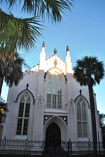 Huguenot Church church building in Charleston, United States of America
