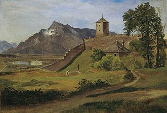 Friedrich Loos - Friedrich Loos, The Falcon Tower on Monk Mountain, Österreichische Galerie Belvedere, 1835