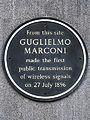 From this site Guglielmo Marconi made the first public transmission of wireless signals on 27 July 1896.jpg