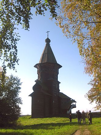 History of Karelia - The 1774 Dormition of the Theotokos church, in Kondopoga, Karelia.