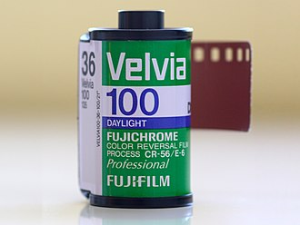 Velvia - Fuji Velvia 100 film cartridge