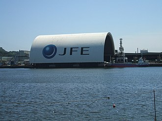 JFE Steel - The roof of the shipment quays at Fukuyama Steel Works
