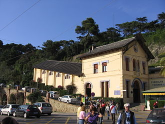 Tibidabo Funicular - The lower station at Plaça Dr. Andreu