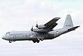 G-273 C-130H-30 334 Squadron Koninklijke Luchtmacht landing at Waddington (3399027454).jpg