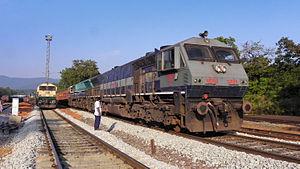 EMD GT46MAC - WDG4 numbered 12029 of Hubli diesel locomotive shed.