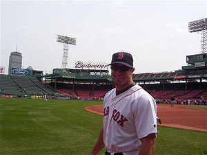 Gabe Kapler at Fenway Park