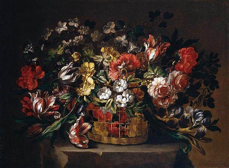Archivo: Gabriel de la Corte - Flores en una cesta - WGA5363.jpg