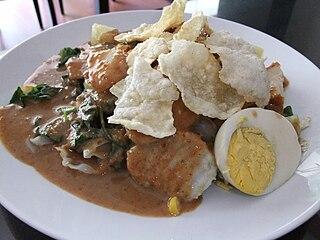 Gado-gado Indonesian salad dish