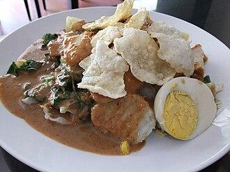 Gado-gado - Gado-gado in Jakarta topped with emping cracker