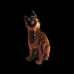Porcelaine cat by Gallé