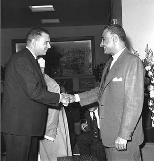 Shams Badran - Image: Gamal Abdel Nasser and Shams Badran