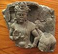 Gandhara, butkara I, frammento con bodhisattva nel gesto della rassicurazione.JPG