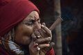 Ganja Smoking - Gangasagar Fair Transit Camp - Kolkata 2013-01-12 2645.JPG
