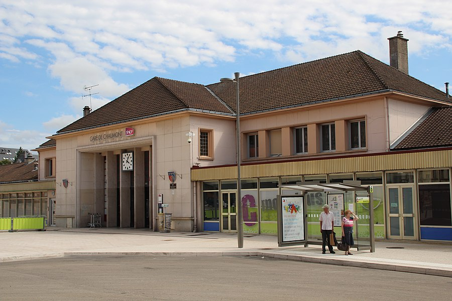 Train station in Chaumont, Haute-Marne, France.