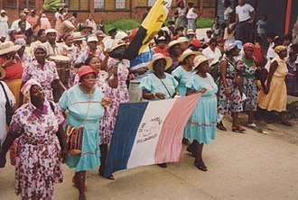 Garifuna - Garifuna parade on San Isidro Day, in Livingston (Guatemala).