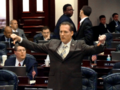 Gary Aubuchon signals for a negative vote on what he considers an unfriendly amendment to his Negligence bill.png