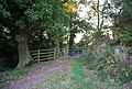 Gate out of the picnic area by Holy Trinity Church - geograph.org.uk - 1501181.jpg