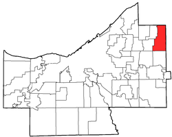 Location of Gates Mills in Cuyahoga County