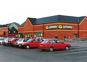 Somerfield - A Gateway supermarket in Skegness, Lincolnshire in 1992.