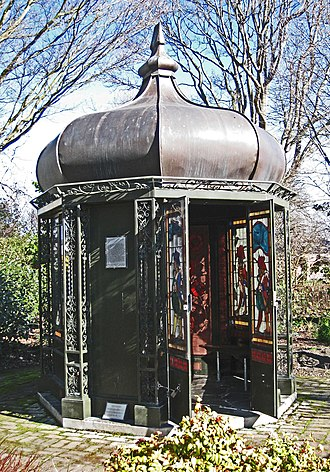 Mona Vale, Christchurch - The gazebo at Mona Vale, conserved and restored by Stewart Stained Glass