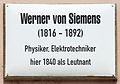 Gedenktafel Schlossstr 26 (Wittenberg) Werner von Siemens.jpg