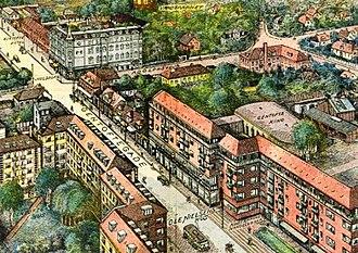 Gentofte - Franz Šedivý: Gentofte Main Street in 1929