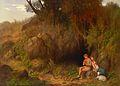Georg Kugler - Romantische Szene mit Hirtenpaar (1868).jpg