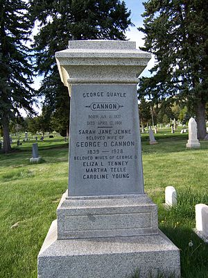 George Q. Cannon - George Q. Cannon's grave marker.