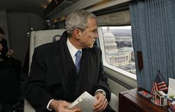 George W. Bush in Marine One