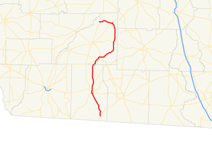 Georgia State Route 93 - Image: Georgia state route 93 map