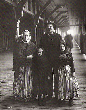 Multiculturalism in Canada - The Yanaluk family, a Slavic immigrant family from Germany  - photographed by William James Topley at Quebec City in 1911.