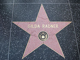 Radner op de Hollywood Walk of Fame.