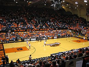 Gill Coliseum -  Older court design from 2007.