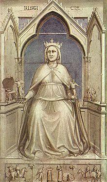La Giustizia, Giotto, Cappella degli Scrovegni