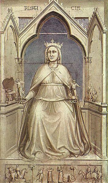 Giustizia - Cappella degli Scrovegni - Giotto